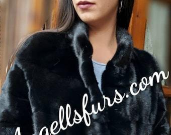 New!Natural Real Modern Superior Quality FULLSKINS  MINK Fur!