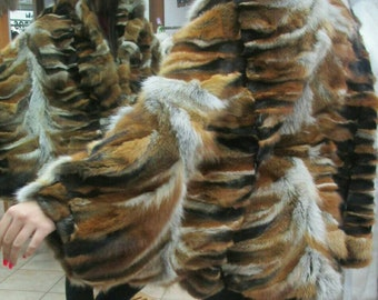 New Real Natural RED FOX Fur One Size CAPE!