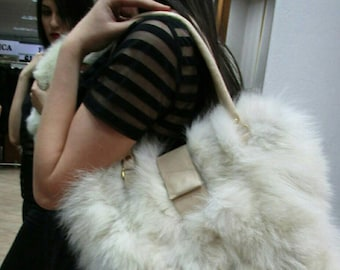 New Bags!!!Natural Real Fox  FUR BAG!!!
