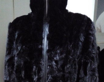 MEN'S NEW Real Natural MINK Fur Coat!