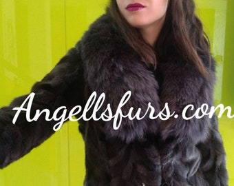 NEW Fine Natural Real Beautiful color Mink Fur jacket!