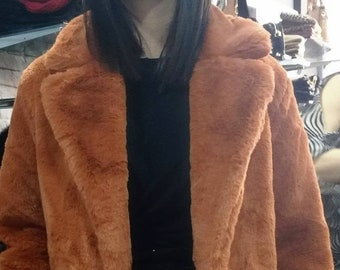 NEW!Natural Real Fullskin Rex Fur Coat!Order ANY COLOR!