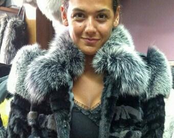 NEW!!!Natural Real Mink  Fur jacket!