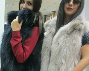New Natural Real Beautiful Colors Top Quality Fox Fur vests!!!