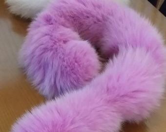 New!Natural Real PINK Fox scarf!