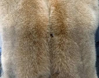 MEN'S!New Real Natural full pelts Gold color FOX Fur Vest!