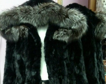 MEN'S NEW fur!!!Real Natural MINK Fur Jacket!
