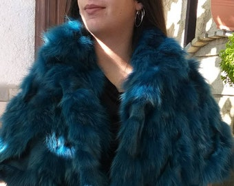 New!Natural Real ONE size FOX FUR Bolero!