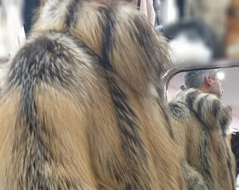 Men'S New!Real Natural CRYSTAL Kross FOX Fur Coat!ORDER Any Color!
