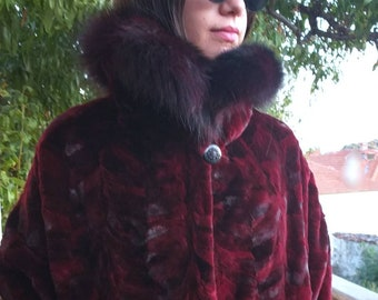 NEW,Natural,Real,ONE SIZE  Mink Fur Cape!