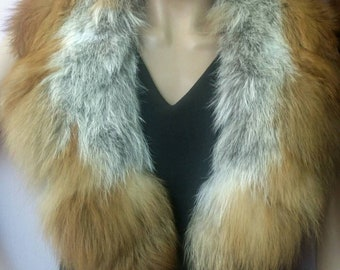 New!!!Natural Real Fur Red Fox collar!