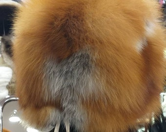 New!Natural,Real RED FOX  Fur HAT!