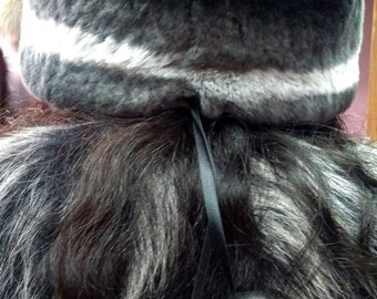 New!Natural,Real fullskin REX Fur HAT! One Size