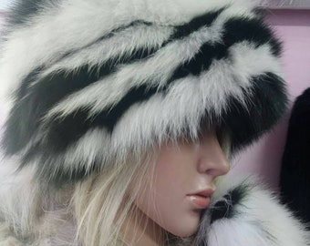 New!Natural,Real Fox Fur HAT!!!