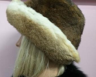 New!Natural,Real Fullskin REX Fur HAT! Unisex