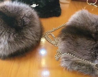 New!Natural,Real Raccoon Fur HAT!!!