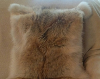 FUR for Home!Brand New Natural Real BIG SIZE Fullskin Coyote Pillow!