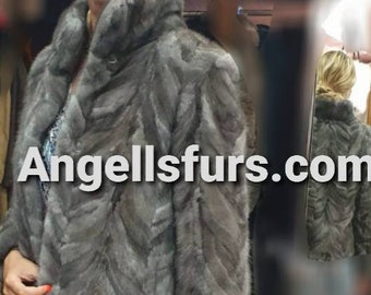 NEW  Natural Real Beautiful color MINK Fur jacket!