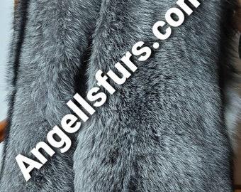 SILVER FROST FOX Double Long Collar- Etol!Fullpelt!Brand New Real Natural Genuine Fur!