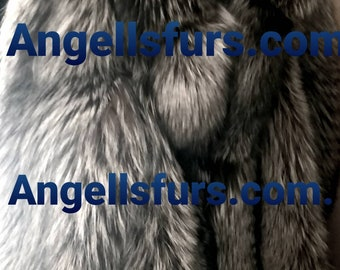 Men'S New Real Natural Full Pelts SILVER  FOX Fur Coat!