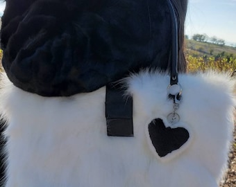 New Bags!!!Natural Real White Fox  FUR BAG!