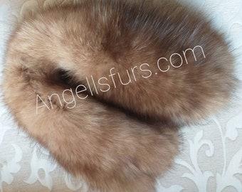 New!Natural Real FOX fur Headband!
