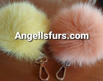 Fur Poms-Keychains