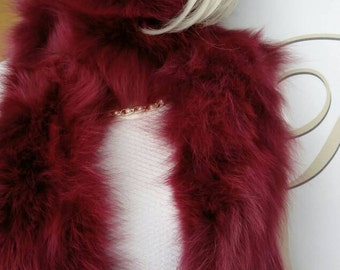 New!!!Natural Real Fox FUR SCARF!