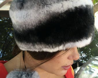 New!Natural,Real fullskin REX Fur HAT!
