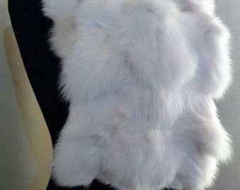 New!Natural Real Pearl white Fox  scarf!