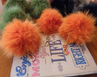 New! FOX POMPON-keychain in Beautiful Orange color!