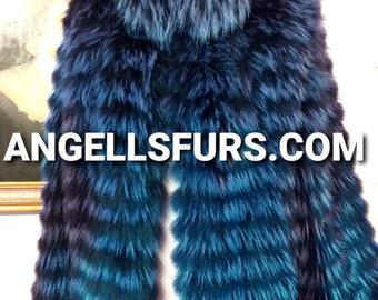 Men'S New!Real Natural RACCOON Fur Jacket!ORDER Any Color!
