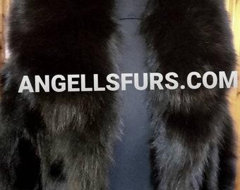 MEN'S Basic!New Real BLACK FOX collar!