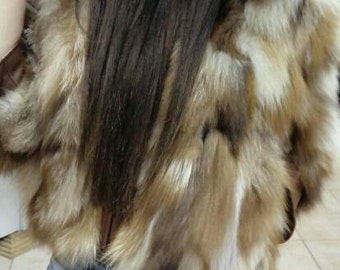 NEW!Natural Real Bolero FOX FUR !