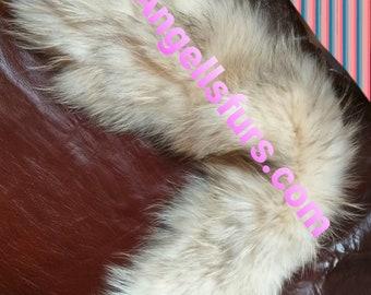 New Natural Real Raccoon small collar!