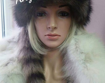 New!Natural,Real Raccoon Fur HAT!UNISEX!