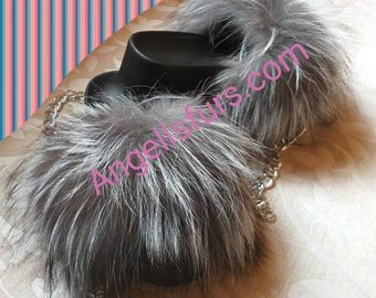 New Real Beautiful SILVER FOX Fur FLATFORMS! Order Any color!