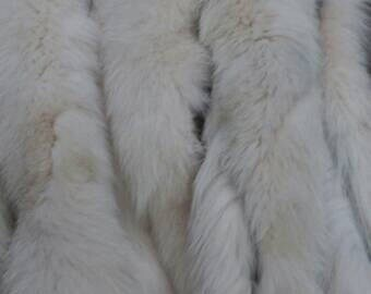 New!!!Natural Real Cream color Fox TRIMS!