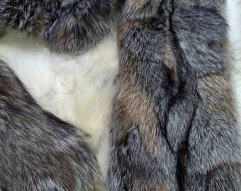 New!Natural Real Crystal Fox  scarf-collar!