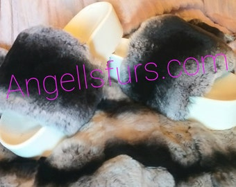 New Real Beautiful REX Fur FLATFORMS! ORDER Any color!