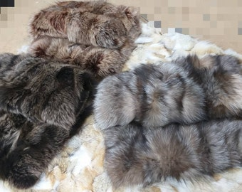 New!Natural,Real Earth colors FOX FUR BAGS!