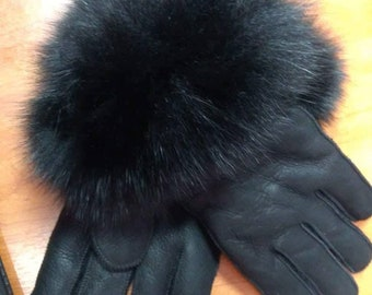 New!Natural,Real Sheepskin GLOVES!