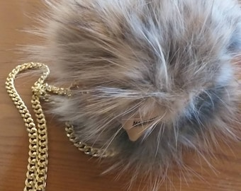 New!Natural,Real Nature's  colors Fox FUR small BAG!