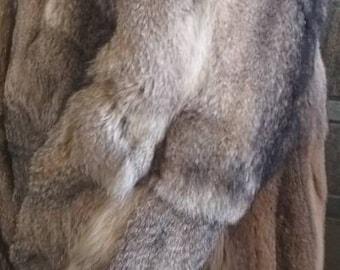 MEN'S New!Real Natural  FOX Fur Coat!