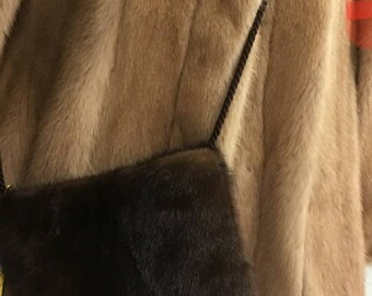 New Natural Real Beautiful MINK Fur Crossbody Bags!Order Any color!