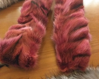 New!Natural Real colored FOX fur Headbands!