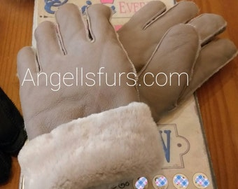 New!Natural,Real Sheepskin GLOVES!UNISEX!
