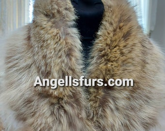 New Natural Real Small Coyote Fur collar!Unisex!