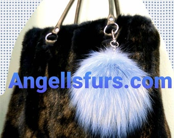 New Natural Real BLACK full pelts MINK Fur Handbag!