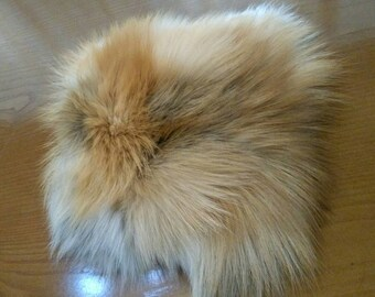 New!Natural,Real RED FOX Fur Wallet-Case!